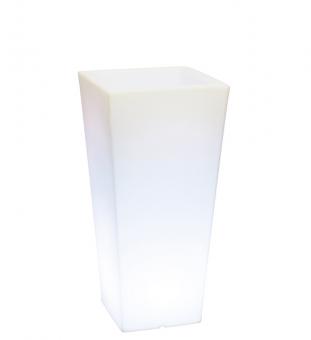 LED beleuchteter Blumentopf eckig