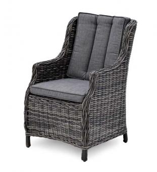 Lounge Sessel Rattan grau