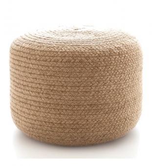 outdoor pouf rund geflochten 50 cm im greenbop online shop kaufen. Black Bedroom Furniture Sets. Home Design Ideas