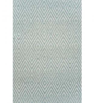 Dash & Albert Outdoor Teppich Diamond eisblau 60 x 90 cm