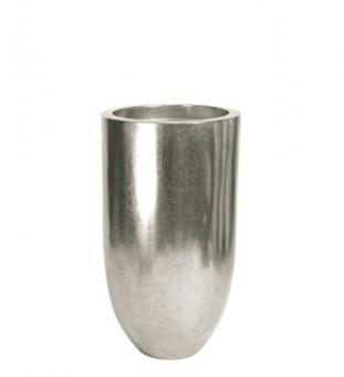 Bodenvase silber PANDORA 90 x 50 cm (h x Ø)