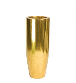 Bodenvase gold PANDORA 90cm hoch x 35cm Ø