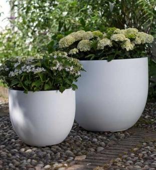 Pflanzgefäß SHAPE weiß fleur-ami