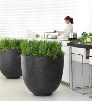 pflanzk bel beton rund anthrazit im greenbop online shop kaufen. Black Bedroom Furniture Sets. Home Design Ideas