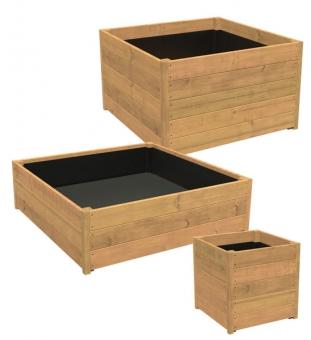 Pflanzkübel Holz quadratisch SEVILLA 80 x 80 x 62 cm (L/B/H)