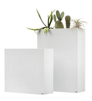pflanzk bel raumteiler wei metall im greenbop online shop kaufen. Black Bedroom Furniture Sets. Home Design Ideas