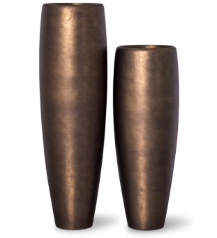 Pflanzvase ROYAL in bronze Optik