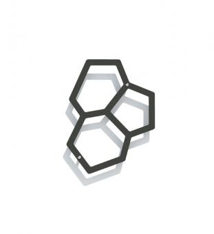 Wandspalier Metall ONYX 29 x 38 cm (Onyx 40)
