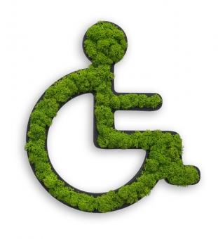 WC Schild Rollstuhl aus Moos