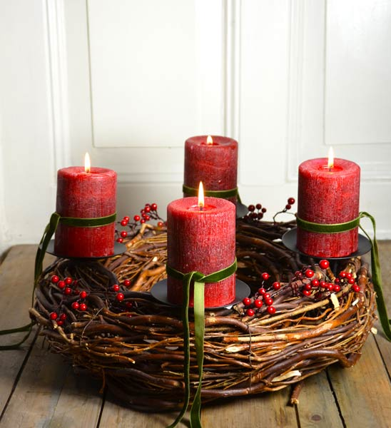 adventskranz rot eternity im greenbop online shop kaufen. Black Bedroom Furniture Sets. Home Design Ideas