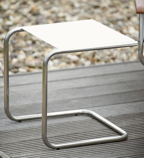 Beistelltisch metall weiß  Beistelltisch Outdoor Metall weiß 40x40 cm | im Greenbop Online ...