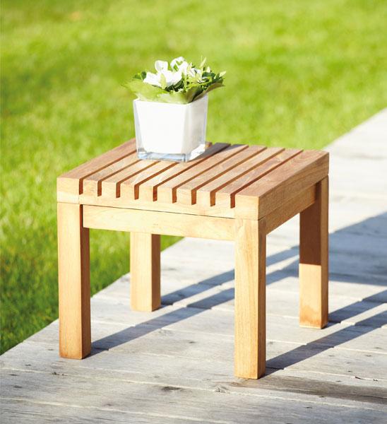 beistelltisch garten teak 35x35 cm im greenbop online shop kaufen. Black Bedroom Furniture Sets. Home Design Ideas