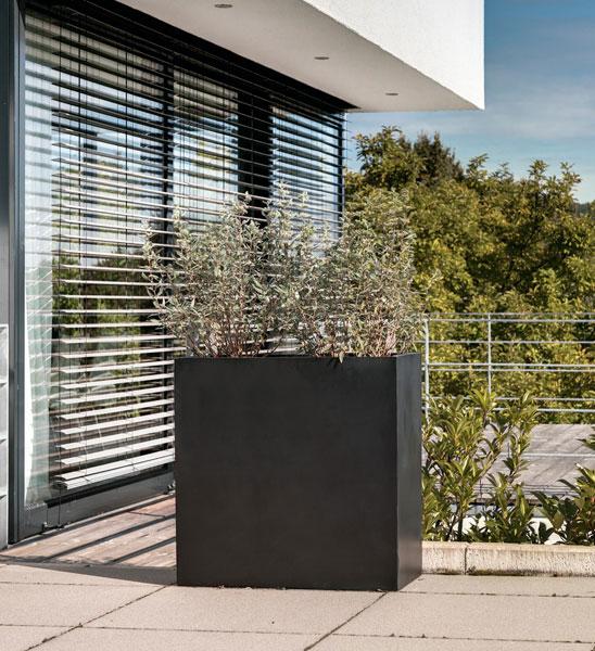 blumenk bel lang hoch schwarz im greenbop online shop kaufen. Black Bedroom Furniture Sets. Home Design Ideas