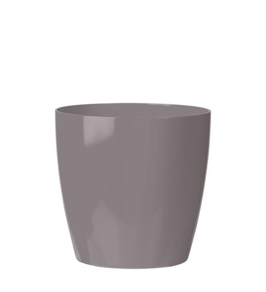 blumentopf kunststoff grau rund im greenbop online shop. Black Bedroom Furniture Sets. Home Design Ideas