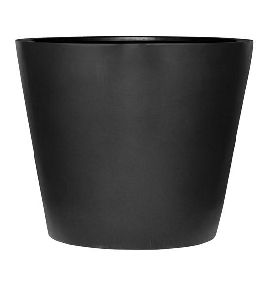blumentopf schwarz im greenbop online shop kaufen
