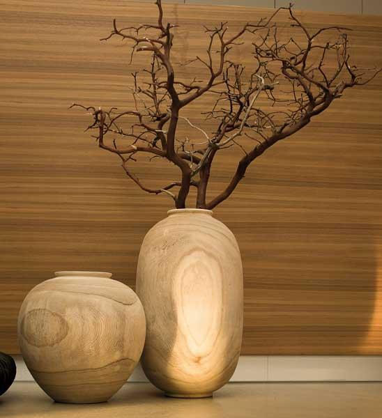 holzvase im greenbop online shop kaufen. Black Bedroom Furniture Sets. Home Design Ideas