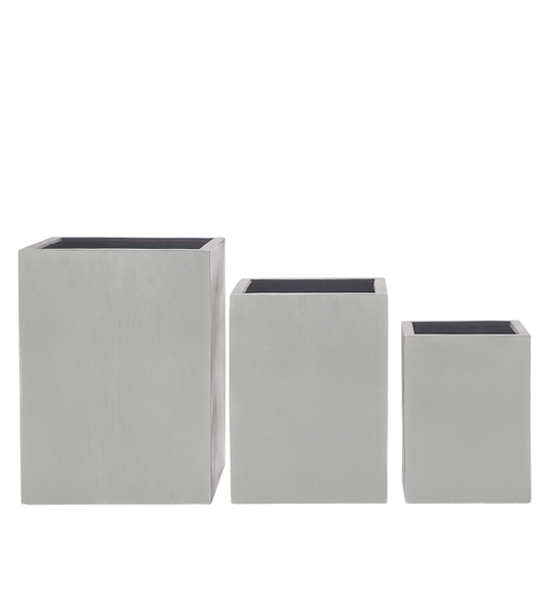 blumenk bel quadratisch hoch grau im greenbop online shop kaufen. Black Bedroom Furniture Sets. Home Design Ideas