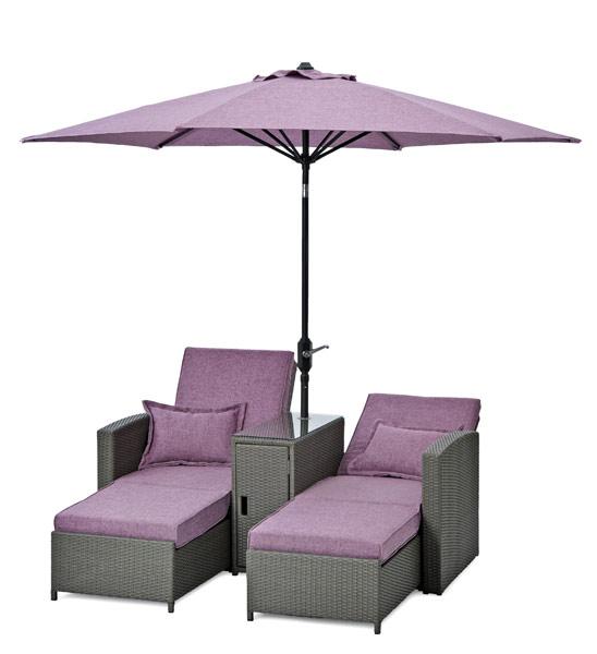doppel sonnenliege mit sonnenschirm im greenbop online shop kaufen. Black Bedroom Furniture Sets. Home Design Ideas
