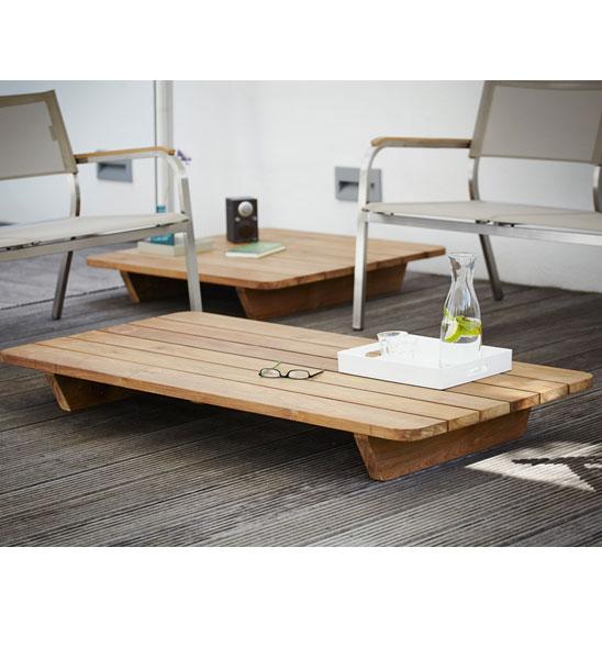 Teakholz couchtisch  Outdoor Couchtisch Teak NEWPORT 140 x 60 cm | im Greenbop Online ...