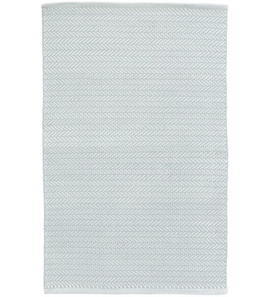 Outdoor Teppich Herringbone hellblau  im Greenbop Online