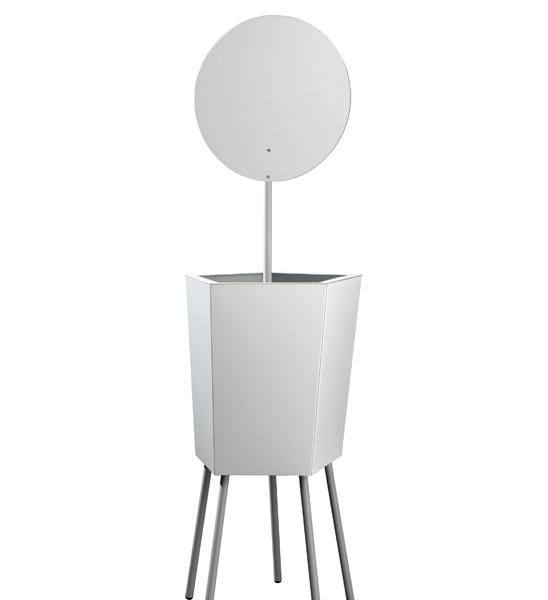 Design Pflanzkübel Metall Elevation mit Spiegel | im Greenbop Online ...