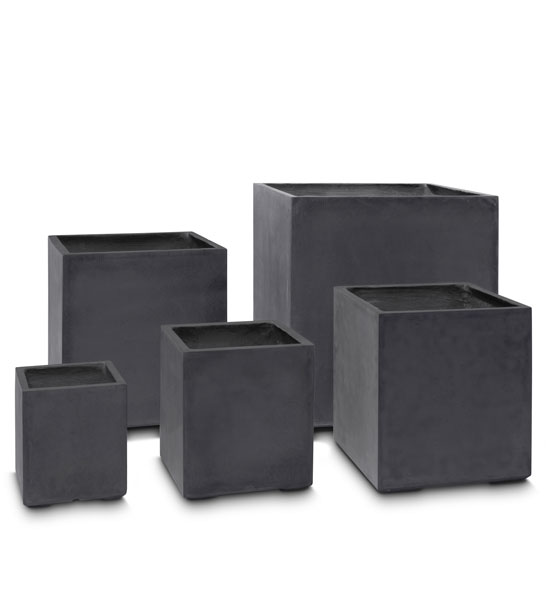 pflanzk bel beton eckig anthrazit im greenbop online shop kaufen. Black Bedroom Furniture Sets. Home Design Ideas
