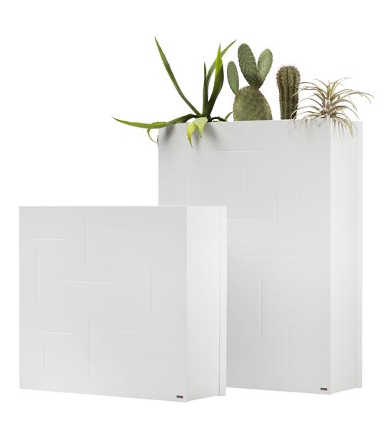 Pflanzkübel Raumteiler weiß Metall | im Greenbop Online Shop kaufen
