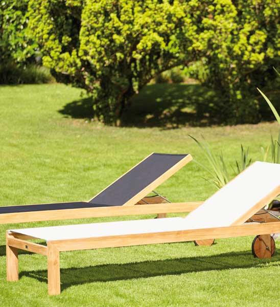 gartenliege holz mit rollen im greenbop online shop kaufen. Black Bedroom Furniture Sets. Home Design Ideas