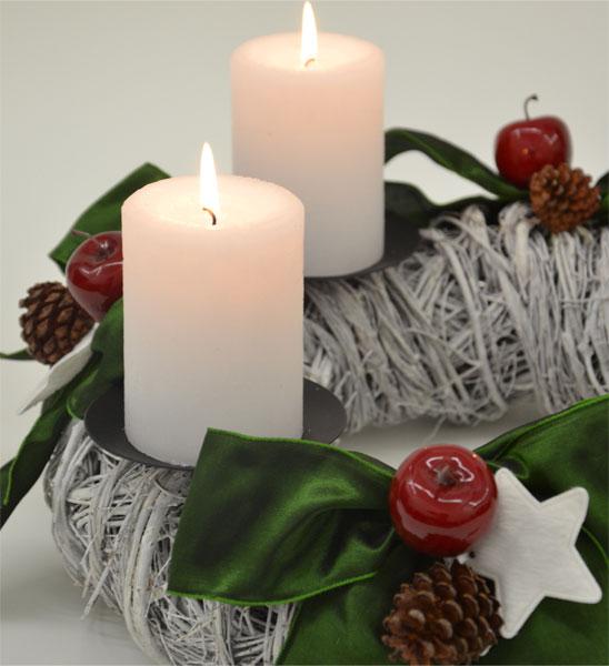 adventskranz wei evergreen im greenbop online shop kaufen. Black Bedroom Furniture Sets. Home Design Ideas