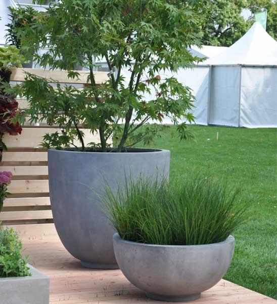 pflanzschale beton grau 40 x 18 cm hoch im greenbop. Black Bedroom Furniture Sets. Home Design Ideas