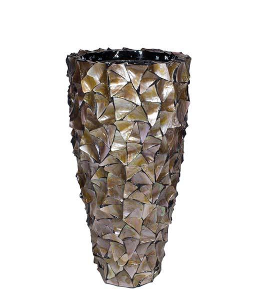 bodenvase perlmutt muscheln braun im greenbop online shop kaufen. Black Bedroom Furniture Sets. Home Design Ideas