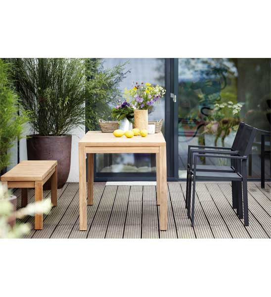 gartenbank teak samoa 100 cm im greenbop online shop kaufen. Black Bedroom Furniture Sets. Home Design Ideas