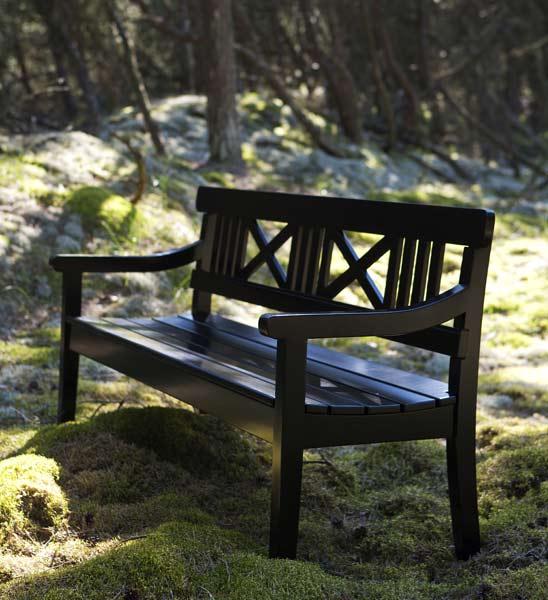 gartenbank schwarz drachmann im greenbop online shop kaufen. Black Bedroom Furniture Sets. Home Design Ideas