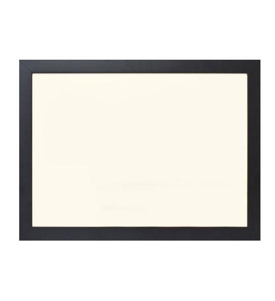 metallplatte creme 58 x 78 cm schwarzer rahmen im. Black Bedroom Furniture Sets. Home Design Ideas