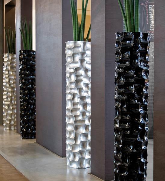 bodenvase mosaic s ule silber im greenbop online shop kaufen. Black Bedroom Furniture Sets. Home Design Ideas