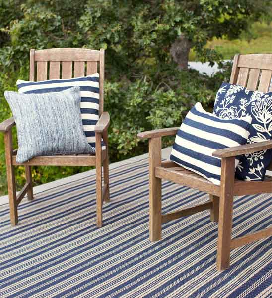 outdoor teppich otis navy gestreift im greenbop online shop kaufen. Black Bedroom Furniture Sets. Home Design Ideas