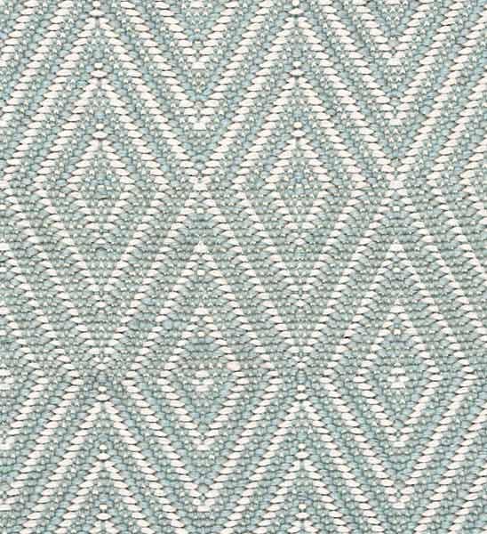 Dash & Albert Outdoor Teppich Diamond eisblau  im