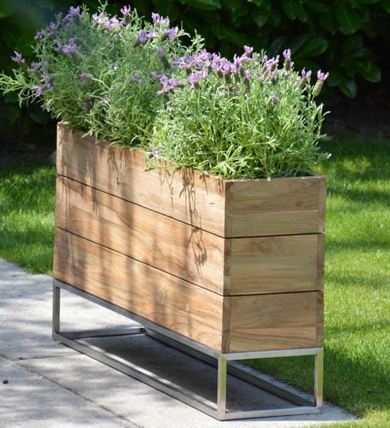 pflanzkuebel teak minigarden container im greenbop