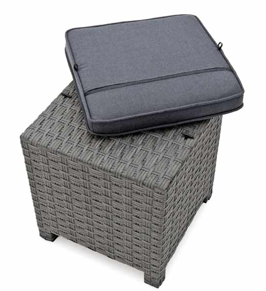 lounge hocker rattan grau greenbop online shop. Black Bedroom Furniture Sets. Home Design Ideas