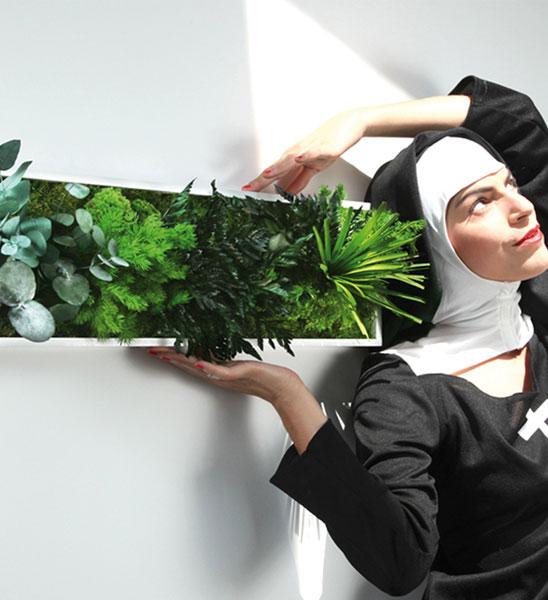 Pflanzenbild 70 x 20cm greenbop online shop for Beleuchtete gartenfiguren