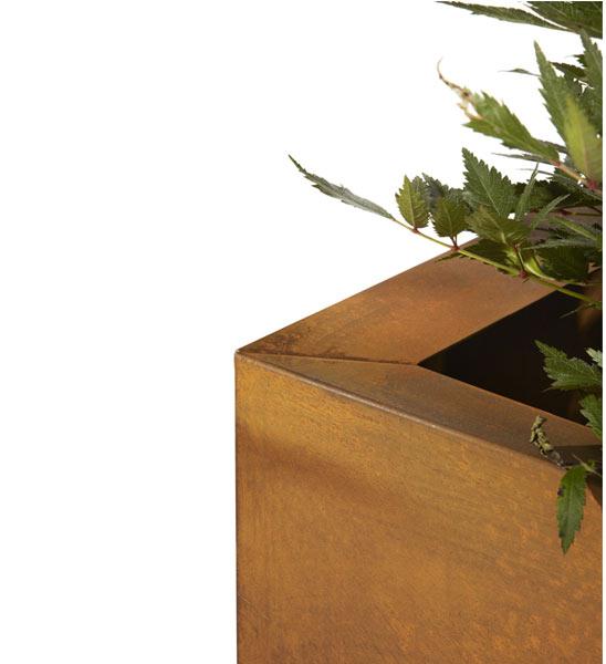 pflanzk bel thallo cortenstahl im greenbop online shop. Black Bedroom Furniture Sets. Home Design Ideas