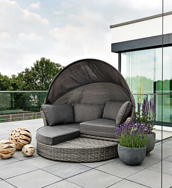 sonneninsel polyrattan grau im greenbop online shop kaufen. Black Bedroom Furniture Sets. Home Design Ideas