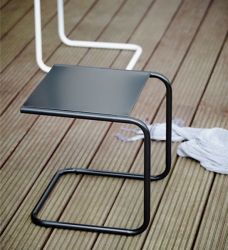 Beistelltisch Outdoor Alu schwarz 40x40 cm
