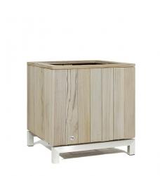 Blumenkübel Holz grau 60x60 cm