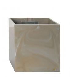 Magnetischer Blumentopf Würfel 9 cm | beige