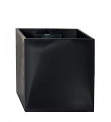 Magnetischer Blumentopf Würfel 3,5 cm | schwarz
