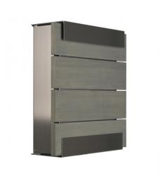 Design Briefkasten Eichenholz grau