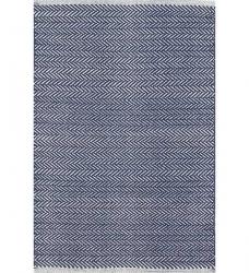 Dash & Albert Baumwollteppich Herringbone dunkelblau