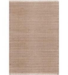 Dash & Albert Baumwollteppich Herringbone braun