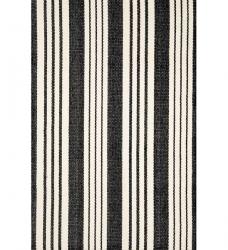 Baumwollteppich Streifen schwarz Birmingham 60 x 90 cm